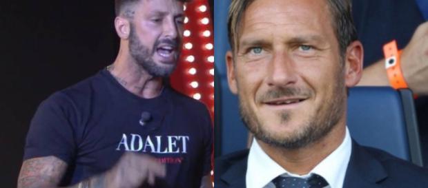 Fabrizio Corona e Francesco Totti