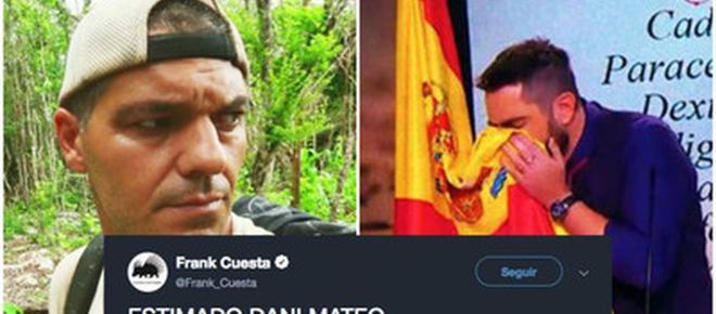 Frank Cuesta critica a Dani Mateo por sonarse los mocos con la bandera de España