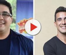 André Marques antes e depois de emagrecer.
