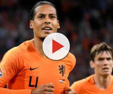 Virgil Van Dijk celebrando el 2-2