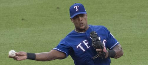 Adrian Beltre playing the field. [image source: Keith Allison- Wikimedia Commons]