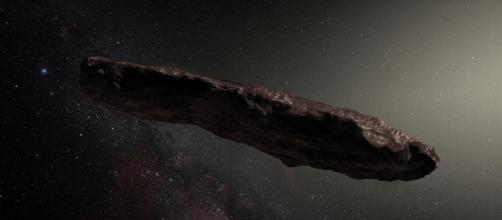 Representación digitalizada de Oumuamua