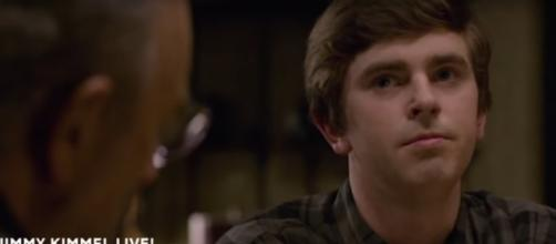 Shaun (Freddie Highmore) and Dr. Glassman (Richard Schiff) face hard truth in Stories on The Good Doctor. [Image source:TVPromos-YouTube]
