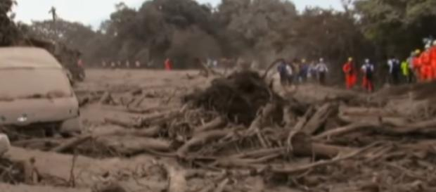 Guatemala eruption 'like Pompeii'. [Image source/The Telegraph YouTube video]