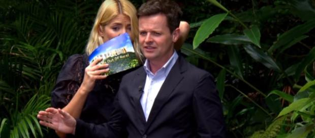 Holly hosts her first Bushtucker Trial and is just as scared as Emily (Image credit: I'm A Celebrity...Get Me Out Of Here!/YouTube.com)
