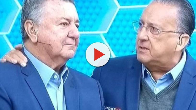 Arnaldo Cezar Coelho se despede da Globo e chora junto com Galvão Bueno ao vivo