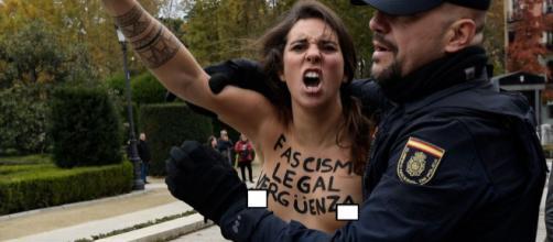 Detención de activista de FEMEN.