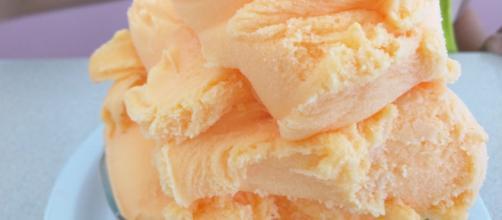 One scoop of orange sherbert ice cream [Source: Alice Keeler - Flickr]