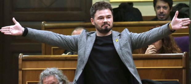 Gabriel Rufián en imagen en el Congreso