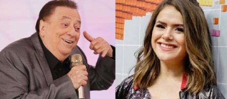 Raul Gil e Maisa Silva protagonizam polêmica. (foto reprodução).