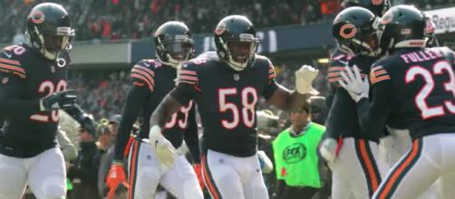 The Chicago Bears' defense came up big as they defeated the Detroit Lions, 23-16 Thursday. [Image via NFL/YouTube]