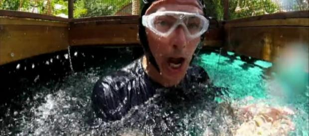 """John Captain's the """"Scary Rose"""" in third Bushtucker Trial (Image credit: I'm a Celebrity...Get Me Out of Here! /ITV Hub)"""