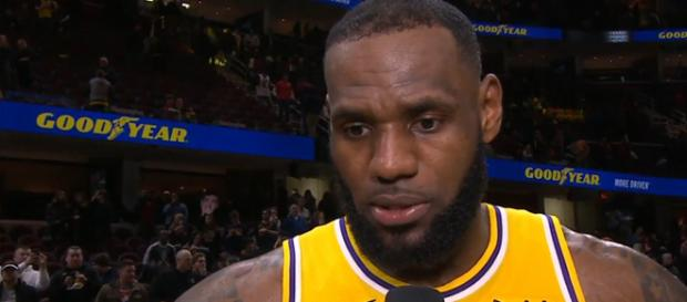 LeBron James reacts to his return to Cleveland [Image by House of Highlights / YouTube]