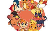 7 Pokémon iniciais do tipo fogo