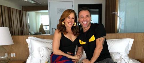Cláudia Raia e Matheus Mazzafera - Reprodução/TV Globo