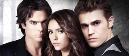 Damon, Elena e Stefan. O triangulo amoroso de The Vampire Diaries.