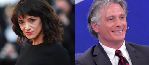 L'attrice Asia Argento e Giorgio Manetti probabili naufraghi dell'Isola dei Famosi.