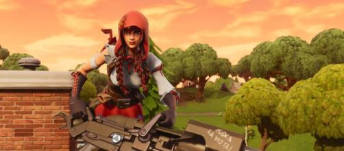 Take no fall damage with this Fortnite trick. [Image Credit: in-game screenshot]