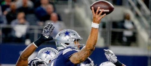 Dak Prescott led the Cowboys to a Thanksgiving Day win over the Redskins. [Image via Dallas Cowboys/YouTube]