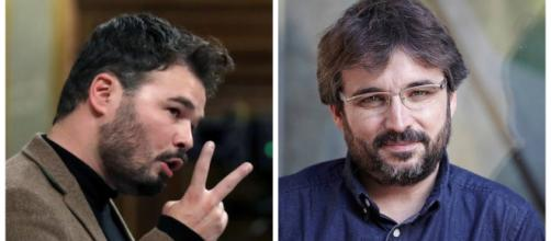 Rufián y Jordi Évole en imagen de archivo