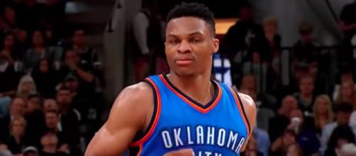Russell Westbrook led the Oklahoma City Thunder to a win on Friday night. [Image via NBA/YouTube]