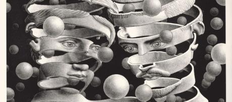 Un'incisione della mostra di Escher al Pan