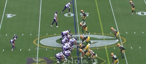After ending in a tie earlier this season, the Vikings and Packers meet again on Sunday (Nov. 24). [Image via NFL/YouTube]