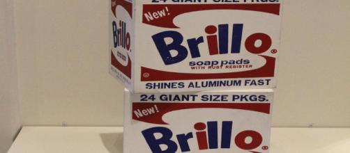 Andry Warhold's sculpture of Brillo boxes 1964 [Image Source: Jim, the Photographer Flickr]