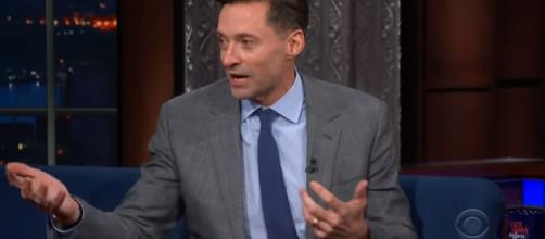 Hugh Jackman is willing to play another superhero. [Image Credit] The Late Show with Stephen Colbert - YouTube