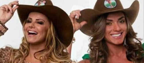 Viviane Araújo e Nicole Bahls participaram do reality A Fazenda