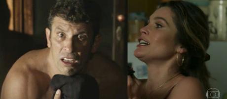 Machado e Rita em O Sétimo Guardião. (foto reprodução).