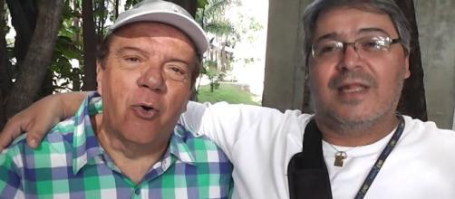 À esquerda o ator Marquinhos, da Rede TV. (foto reprodução).