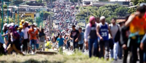 La Caravana Migrante en su paso por México (via - Capital21 | Páginas 2 - gob.mx)