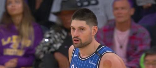 Nikola Vucevic brought his A-game to Los Angeles on Sunday to help the Magic defeat the Lakers. [Image via NBA/YouTube]