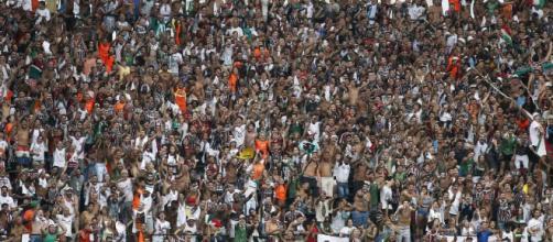 Torcida do Fluminense organiza protestos nas Laranjeiras (Foto: Globo.com)