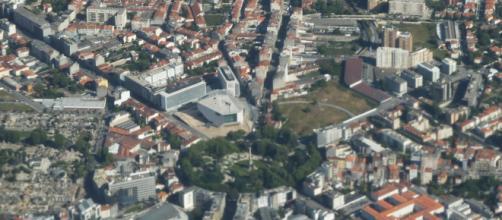 Vista aérea da Rotunda da Boavista [Imagem via Wikimedia]
