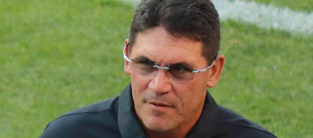 Ron Rivera, coach of the Panthers, has a lot of explaining to do after he's dropped 3 straight. [Image source: Jeffrey Beall/Wikimedia Commons]