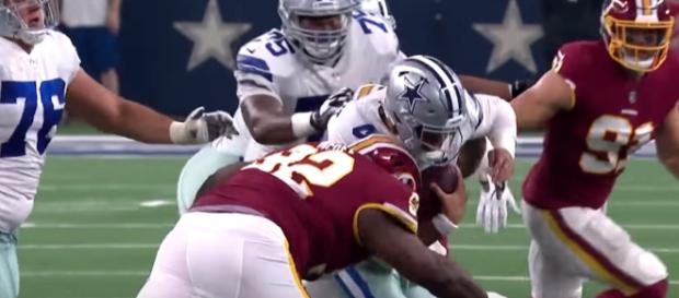 The Dallas Cowboys and Washington Redskins are battling for spots in the 2019 NFL Playoffs. - [NFL / YouTube screencap]