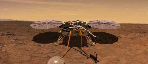 INSIGHT atterra su Marte con la sua apprecchiatura
