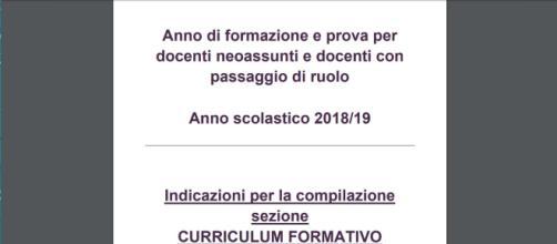 Indire, compilazione curriculum formativo