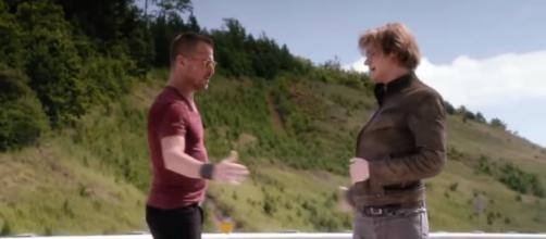 'MacGyver' co-star George Eads (left) is leaving the series. - [moviemaniacsDE / YouTube screencap]
