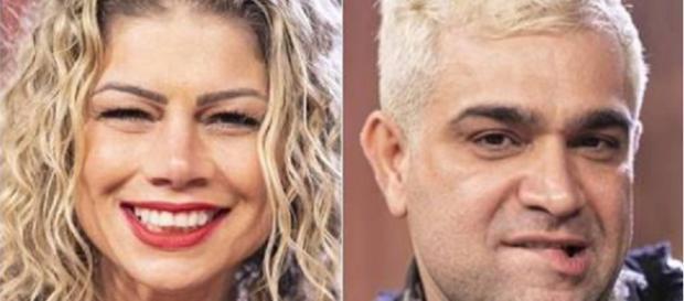 Catia Paganote e Evandro Santo estão na Roça (Reprodução/RecordTV)