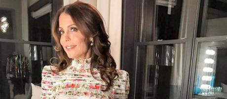 Bethenny Frankel poses in a floral dress. [Photo via Instagram]