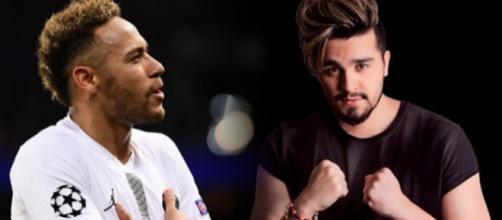 Luan contou que já ficou com Bruna e Neymar deixou de seguir o cantor nas redes sociais. (foto reprodução).