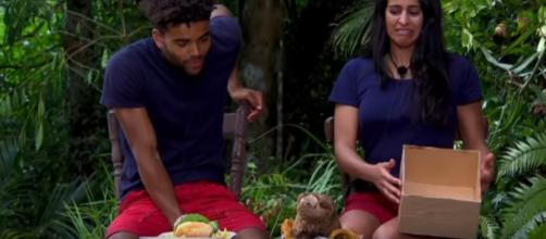 Malique and Sair get a taste for Jungle Takeaway (Image credit: I'm A Celebrity...Get Me Out Of Here!/ITV YouTube.com)
