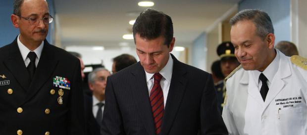 El presidente Enrique Peña Nieto durante la inauguración del Centro Médico Naval. - noticel.mx