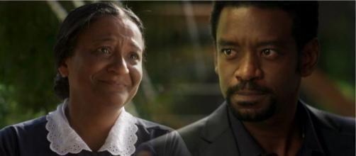 Roberval discutirá feio com Zefa por ela ter guardado segredo (foto reprodução).