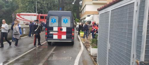 Sul posto per il trasferimento degenti intervenuta anche ambulanza dell'Arma