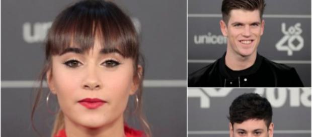 Aitana y Cepeda coinciden tras su ruptura con Miguel Bernardeau presente