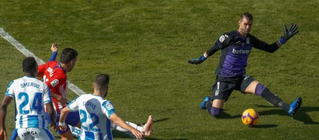Correa, en una clara ocasión frente a Cuellar
